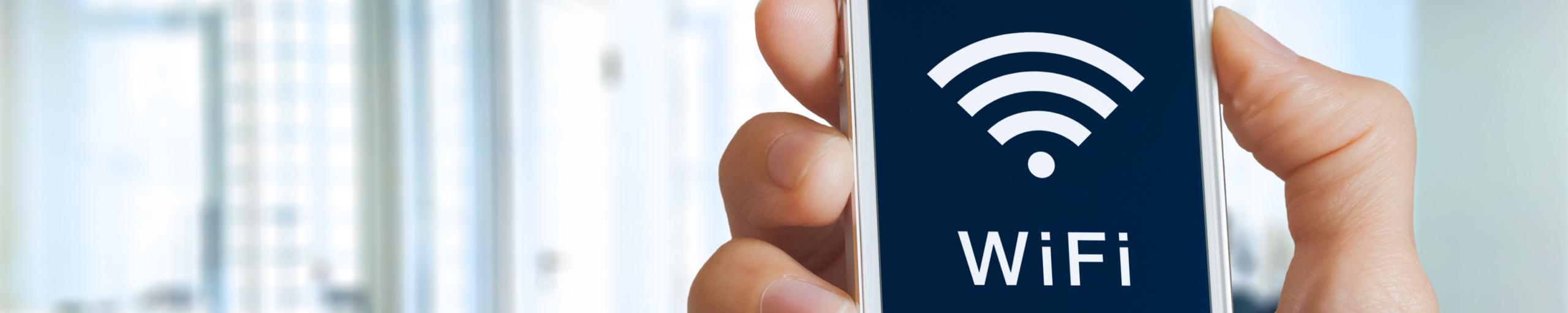 Headerbild Smartphone mit WiFi