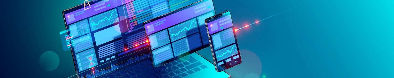 Laptop, Tablet und Smartphone - Titelbild