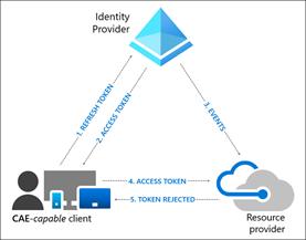 Azure Active Directory - Der Client authentifiziert sich über den zentralen Identity Provider beim Resource Provider